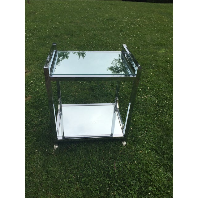 Mid-Century Chrome Bar Cart - Image 4 of 6