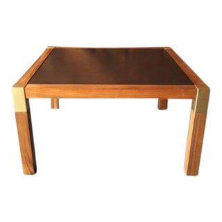 1970's Vintage Oak Rosewood Square Coffee Table
