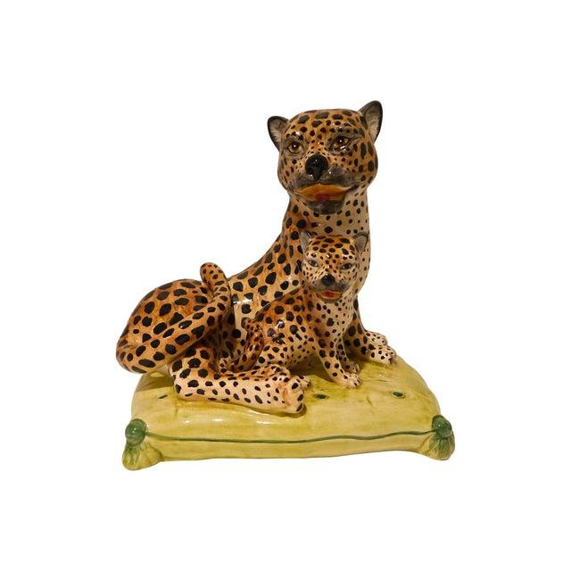1960s Italian Ceramic Leopard Chairish