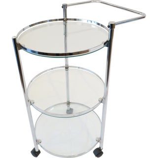 Glass & Chrome Bar Cart