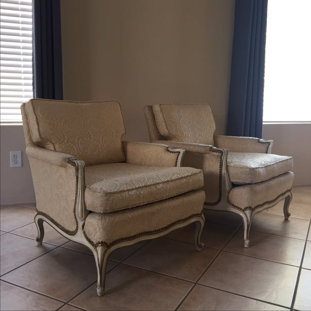 Vintage French Louie Xv Style Lounge Chairs Chairish