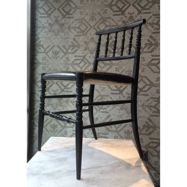 Moooi Dutch Designer Black Leather Dining Chair - Image 5 of 5