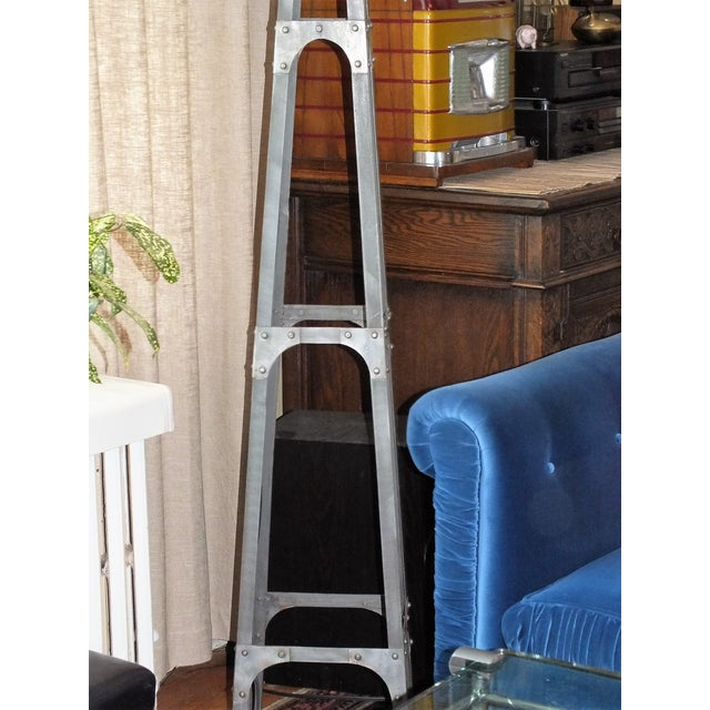Recycled Industrial Style Floor Lamp - Image 4 of 8