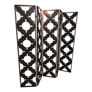 Real Wood Lattice Folding Screen