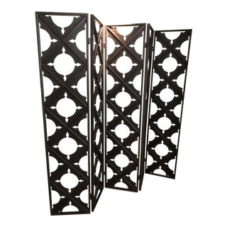 Real Wood Lattice Folding Screen