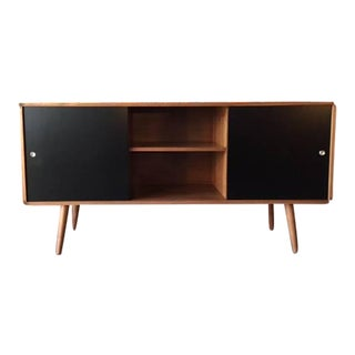 Mid-Century Style Walnut Two Door Credenza