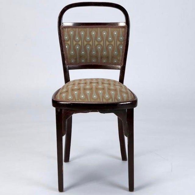 Set of 4 Otto Wagner Secessionist Walnut Dining Chairs - Image 5 of 10