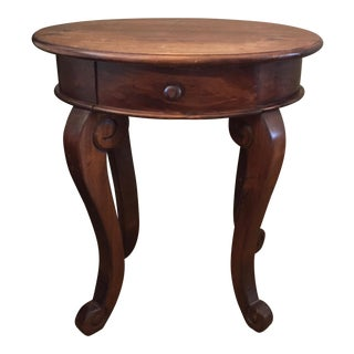 Brown Walnut Finish Small Side Table