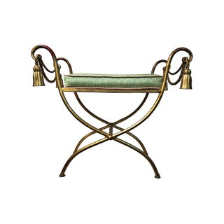 Vintage Italian Rope & Tassel Footstool