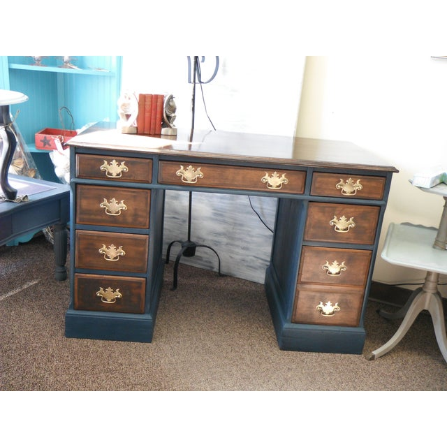 Antique Painted Federal Style Desk - Image 11 of 11