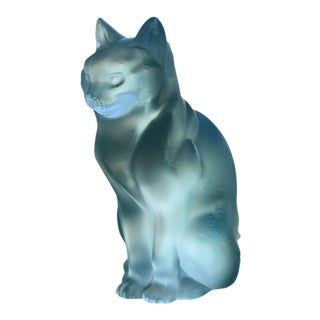 Lalique Crystal Cat Figure