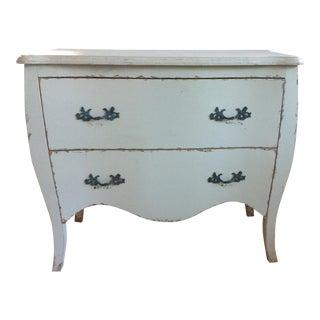 Shabby Chic Gray Cabinet