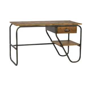 Reclaimed Wood and Iron Desk