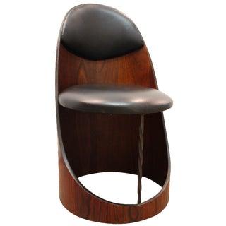 Danish Modern Walnut & Iron Circle Chair