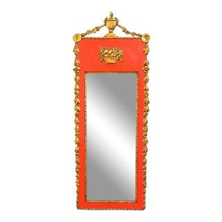 19th C. Red & Giltwood Regency Mirror