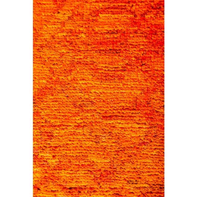 "Image of New Hand-Knotted Overdyed Orange Rug - 8'3"" X 9'10"""
