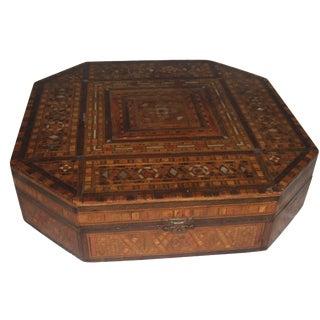 Antique Damascus Inlaid Jewelry Box