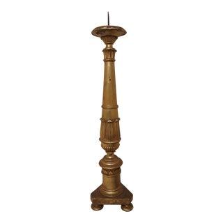 Antique Giltwood Altarstick Candlestick
