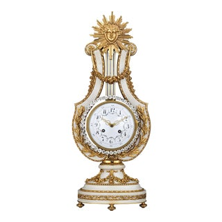 Marble And Ormolu French Lyre Clock