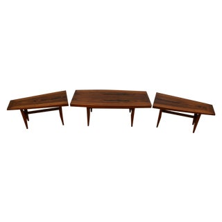 Rosewood Coffee Table and End Tables - 3 Pieces
