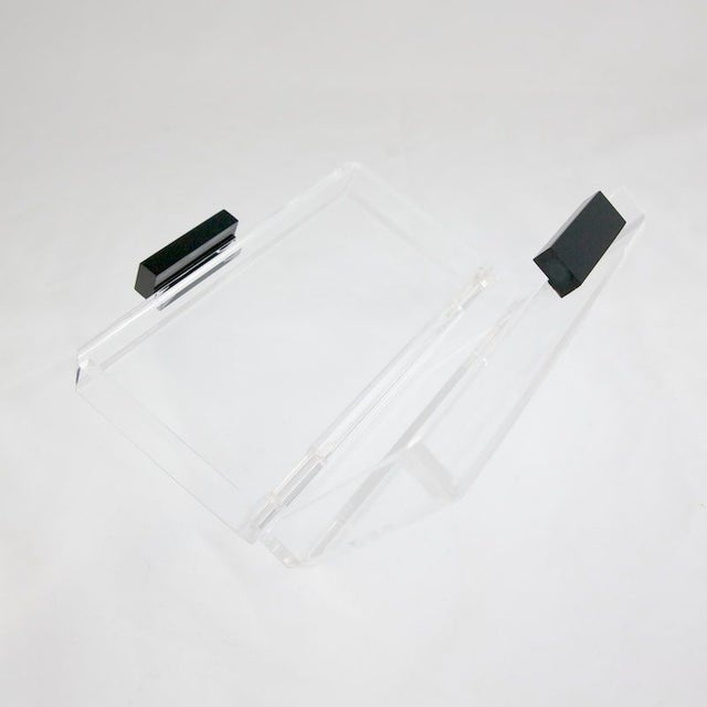 Image of Clear Lucite Clutch
