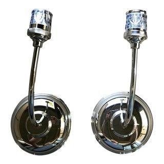 Polished Nickel Vendome 1 Light Sconces - A Pair