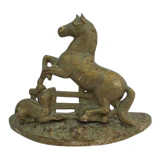 Antique Stallion Doorstop