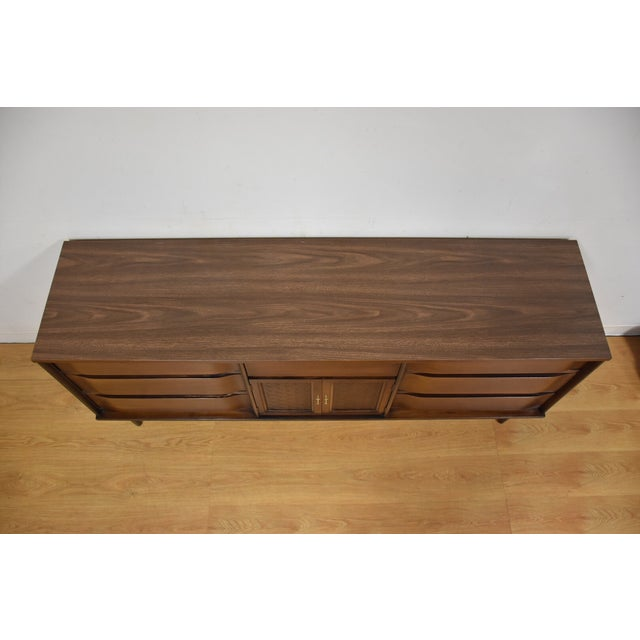 Image of Mid-Century Walnut and Formica Credenza