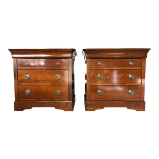 Grange Louis Philippe Four Drawer Nightstands - A Pair