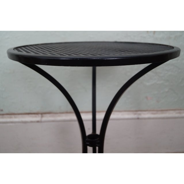 Round Metal Patio Side Tables - A Pair - Image 10 of 10