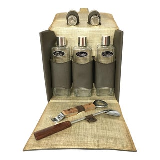 Vintage Travel Bar Set