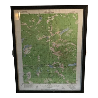 Framed Map of California Tahoe National Forest