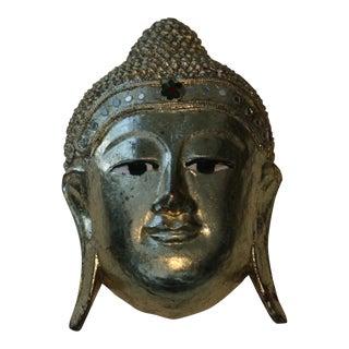 Gold Buddha Head Sculpture