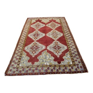 Vintage Turkish Oushak Rug - 7′6″ × 11′9″