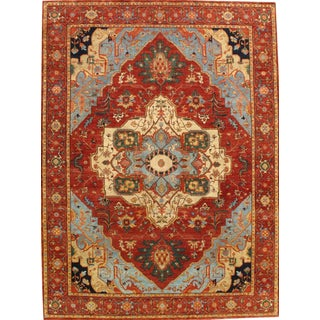 """Pasargad N Y Fine Indo Hand-Knotted Serapi Rug - 7'7"""" X 10'2"""""""