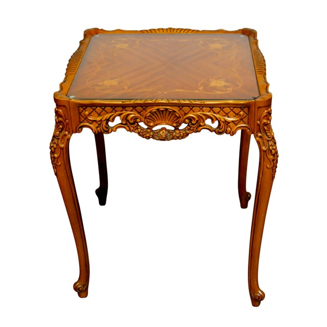 French Provincial Inlaid Table - Image 1 of 4