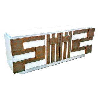 Lane Furniture Brutalist Triple Dresser