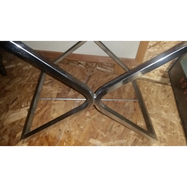 Mid Century Chrome Director X-Base Chair. - Image 3 of 7