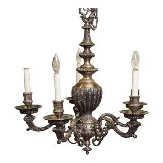 Ornate Silver Chandelier