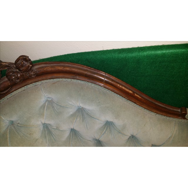Antique Victorian Fainting Couch - Image 8 of 10
