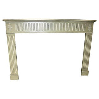 White Distressed Fireplace Mantel