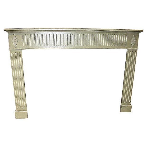 Celadon Distressed Fireplace Mantel Chairish