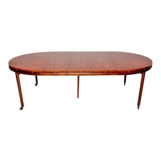 Mid-Century Modern Oval Dining Table by Michael Taylor for Baker