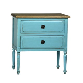Teal Distressed Side Table