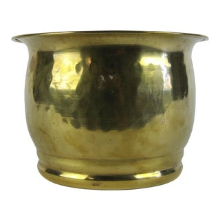 Hand Hammered Brass Planter