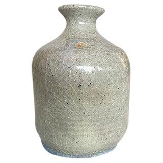 Light Gray and Blue Crackled Vase