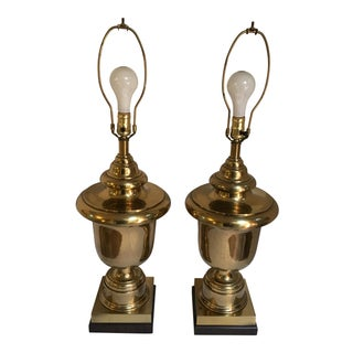 Monumental Brass Table Lamps - A Pair