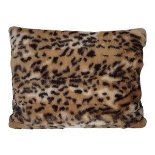 Faux Fur Leopard Pillow