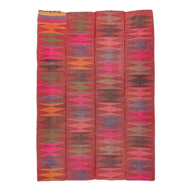 """Vintage Colorful Turkish Kilim Rug - 7'5"""" X 10'8"""""""