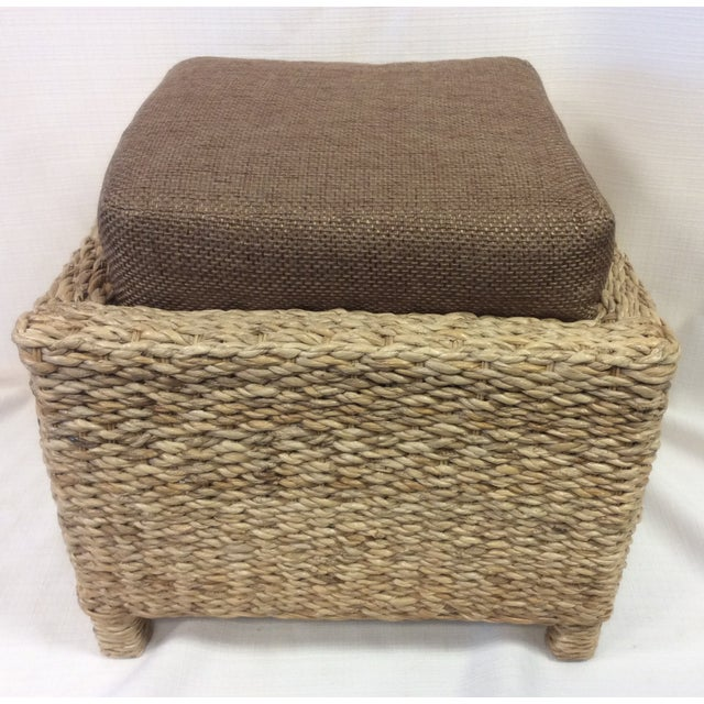 Handmade Woven Stool Mimbre Brown - Image 4 of 9